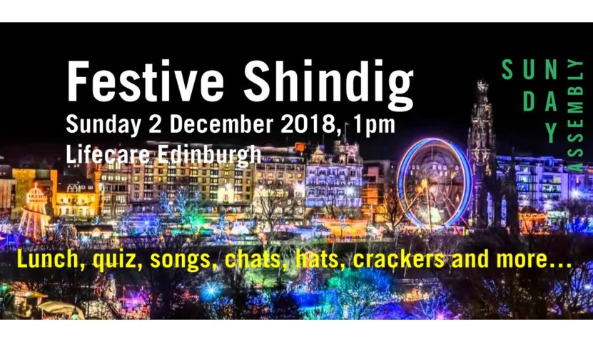 Festive Shindig lunch party – Sunday 2 December 2018