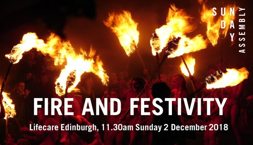 Sunday Assembly 2 December: Fire and Festivity