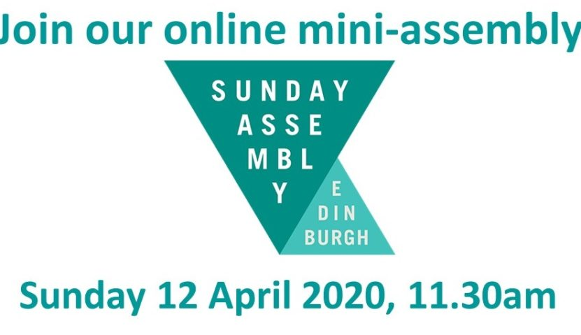 Join our mini-assembly on Sunday 12 April 2020, 11.30am