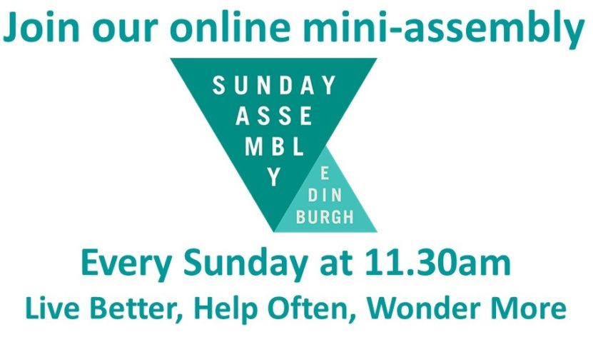 Sunday Assembly Edinburgh ONLINE – register now